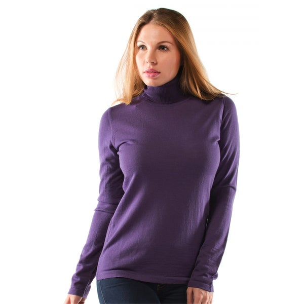 Women's Extra Fine Merino Wool Turtleneck Sweater - Free Shipping...
