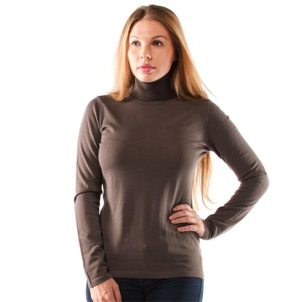 Women's Extra Fine Merino Wool Turtleneck Sweater - Free Shipping ...