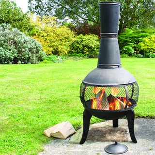 Deeco Tuscan Glo Cast Iron Chiminea
