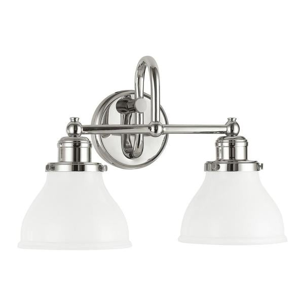 Bathroom Vanity Lights Polished Nickel capital lighting baxter collection 2-light polished nickel wall