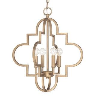 Capital Lighting Ellis Collection 4-light Antique Gilded Bronze Pendant Light