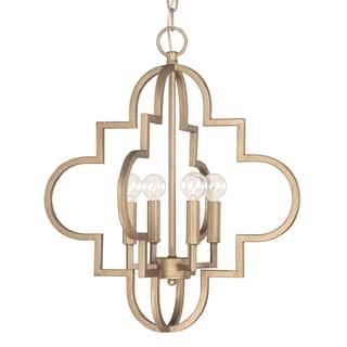 Capital Lighting Ellis Collection 4 Light Brushed Gold Pendant