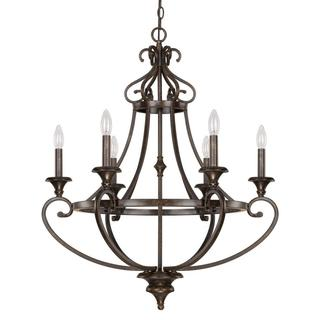 Capital Lighting Maxwell Collection 6-light Painted Chesterfield Brown Chandelier Light