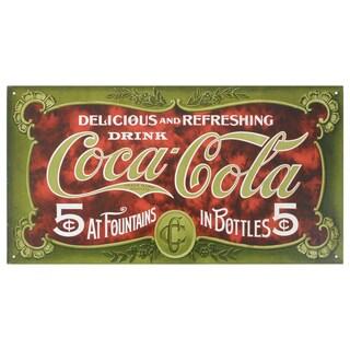Vintage Metal Art 'Coke 1900s' Decorative Tin Sign