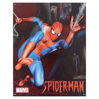 Vintage Metal Art 'Spider-Man' Decorative Tin Sign