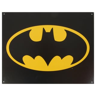 Vintage Metal Art 'Batman Logo' Decorative Tin Sign