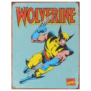 Vintage Metal Art 'Wolverine Retro' Decorative Tin Sign