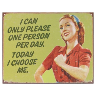 Vintage Metal Art 'Ephemera I Choose Me' Decorative Tin Sign