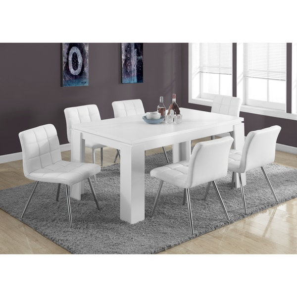 White Hollow-core Dining Table