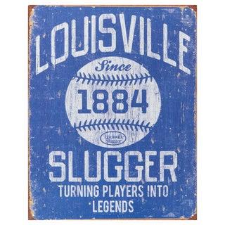 Vintage Metal Art 'Louisville Slugger' Decorative Tin Sign
