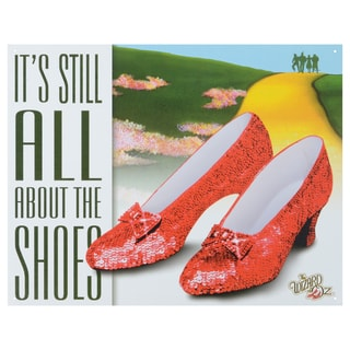 Vintage Metal Art 'Wizard of Oz All About the Shoes' Decorative Tin Sign