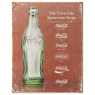 Vintage Metal Art Coca Cola Decorative Tin Sign