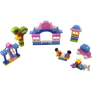 DimpleChild 80-piece Girls Dream Assorted Building Bricks