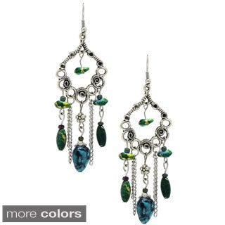 Bleek2Sheek Hearts and Flowers Chandelier Earrings