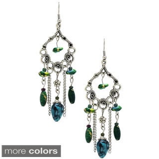 Handmade Bleek2Sheek Hearts and Flowers Chandelier Earrings (USA)