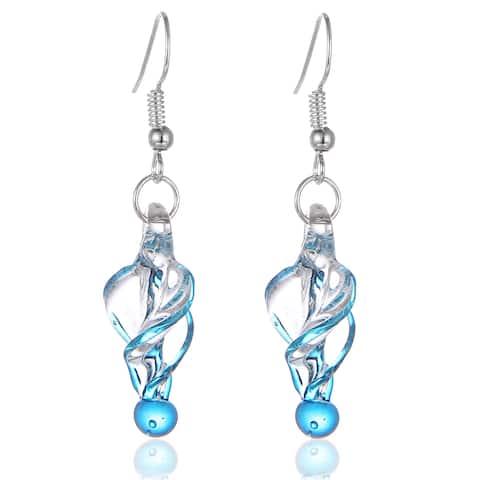 New Handmade Italian Glass Tornado Twirl Quality Fashion Earrings (United States)