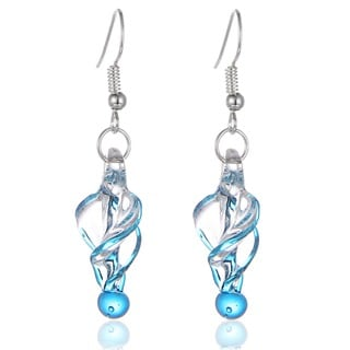 New Handmade Italian Murano Style Glass Tornado Twirl Quality Fashion Earrings (United States)