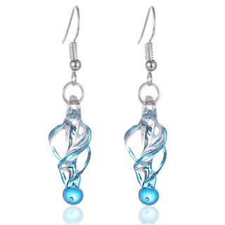 New Handmade Italian Murano Style Glass Tornado Twirl Quality Fashion Earrings (United States)|https://ak1.ostkcdn.com/images/products/9599416/P16785054.jpg?impolicy=medium