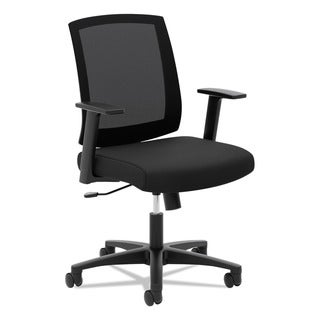 Basyx By HON VL511 Black Mesh Mid Back Task Chair With Arms