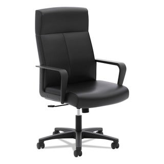 basyx by HON VL604 Series Black SofThread Leather High-Back Executive Chair