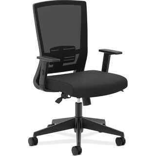 basyx by HON VL541 Black Mesh High-Back Task Chair with Arms