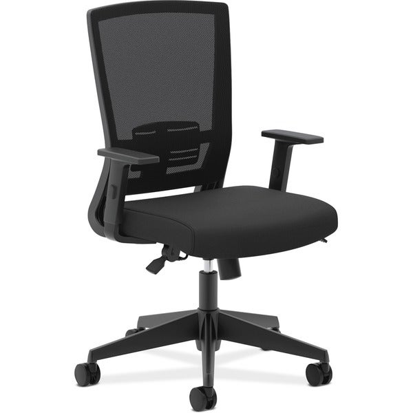 shop basyx by hon vl541 black mesh high back task chair with arms