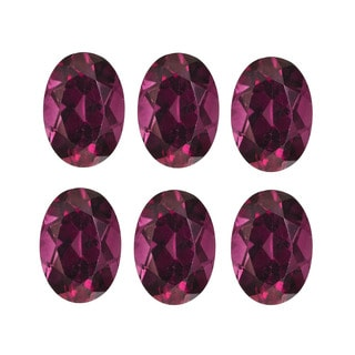 Oval-cut 4x6mm 3.30ct TGW Rhodolite Garnets (Set of 6)