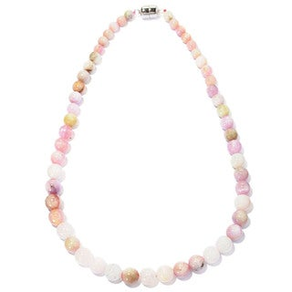Sterling Silver Kunzite Multi-colored Bead Necklace