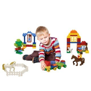 DimpleChild 90-piece Happy Farm Building Bricks Set