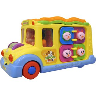 Dimple DC5008 Fun Learning Activity School Bus with Lights & Sounds Responsive Gears