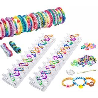 As Seen on TV Friendship Loom Band Bracelet Maker Kit (Set of 2) https://ak1.ostkcdn.com/images/products/9599562/P16785423.jpg?impolicy=medium