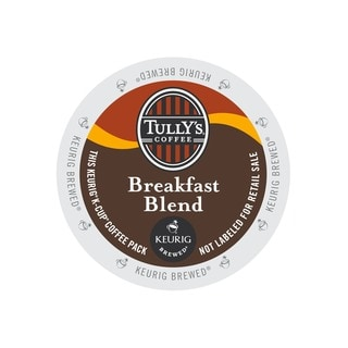 Tully's Breakfast Blend Extra Bold Coffee, K-Cups Portion Pack for Keurig Brewers