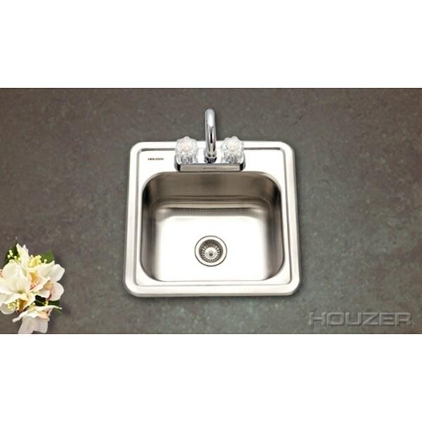 Houzer Hospitality Topmount 15 x 15 x 6-inch Bar Sink ...