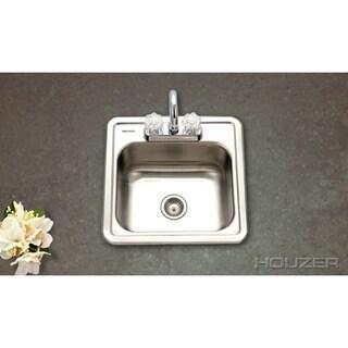 Houzer Hospitality Topmount 15 x 15 x 6-inch Bar Sink