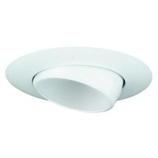 Raptor Lighting 6-inch Sloped Recessed Trim White Eye Ball/ White Baffle Br30/ Par30 Ceiling Light (Case Pack of 4 Units)