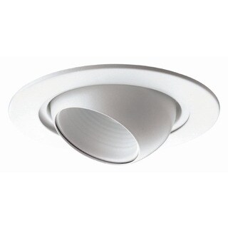 Raptor Lighting 6-inch Recessed Trim White Eye Ball Light Fixture (Case Pack of 4 Units)