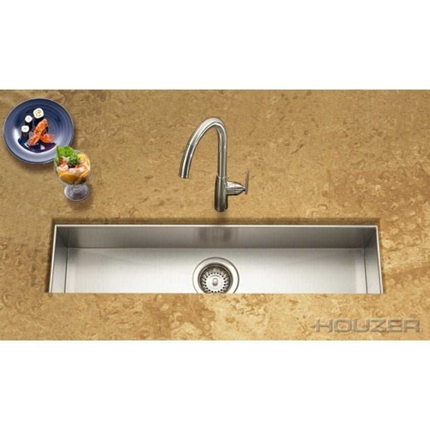 HOUZER Contempo Trough Bar/ Prep Bowl (Brushed Satin), Si...