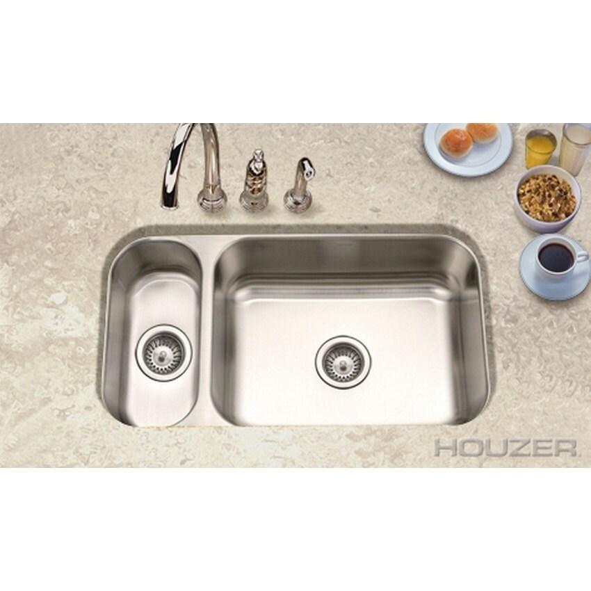 Shop Houzer Elite 80 20 Double Bowl Overstock 9599697