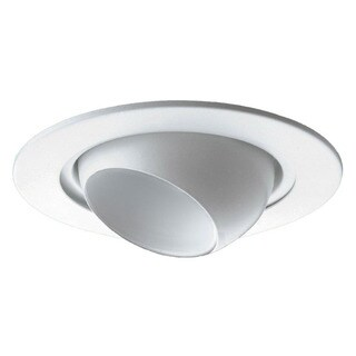 Raptor Lighting 4-inch Recessed Trim Low Voltage White Eyeball/ White Baffle [50w Max] 12v Mr-16 (Case Pack of 4 Units)