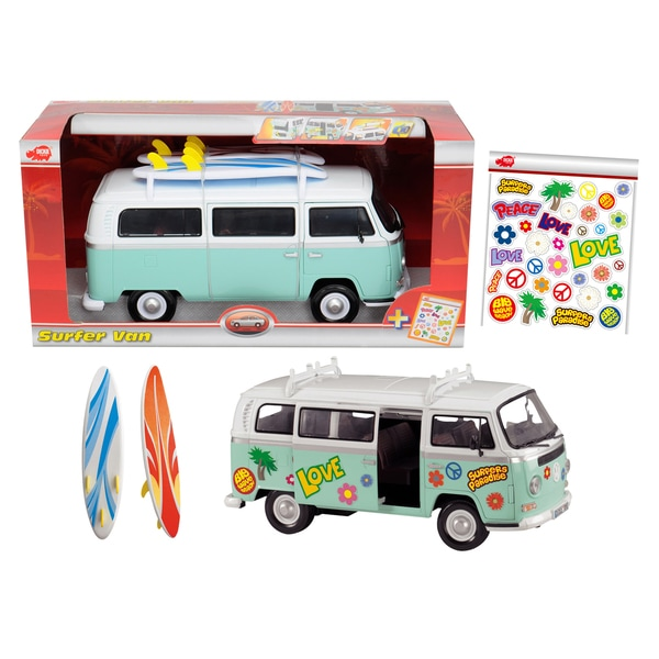 Dickie Toys VW Surfer Van with Accessories