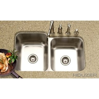 Houzer Medallion Classic 60/40 Small Bowl Right Double Bowl
