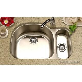 Houzer Medallion Designer 60/40 Small Bowl Right Double Bowl