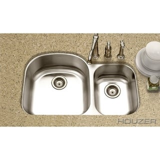 Houzer Medallion Designer 70/30 Small Bowl Right Double Bowl