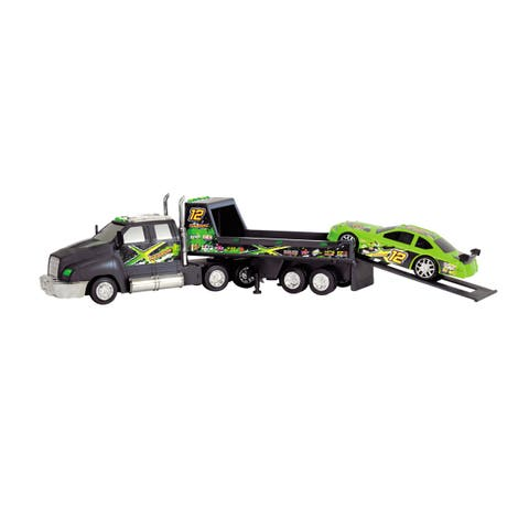 Dickie Toys Racing Transporter with Race Car