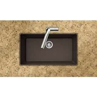 Houzer Quartztone Series Mocha Undermount Large Single Bowl