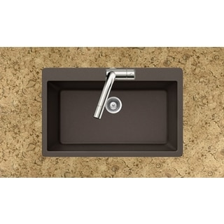 Houzer Quartztone Series Mocha Topmount Large Single Bowl