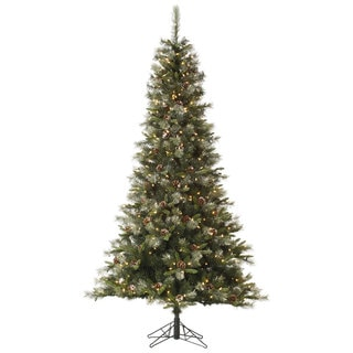 7.5-foot Iced Sonoma Spruce with 500 Clear Lights