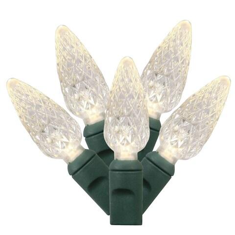 34-foot 100-light Warm White/ Green C6 EC LED Light Strand