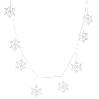 8-function 48-light Cool White LED Snowflake Icicle Set