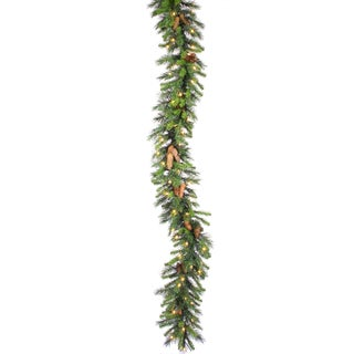 9-foot 240-tip Cheyenne Garland with 50 Warm LED Lights